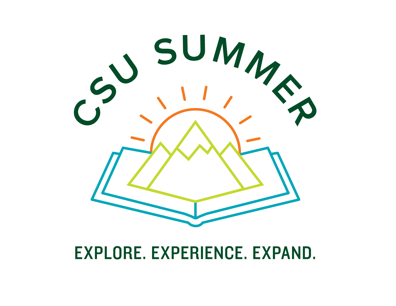 Visual representation of CSU Summer Brand Logo